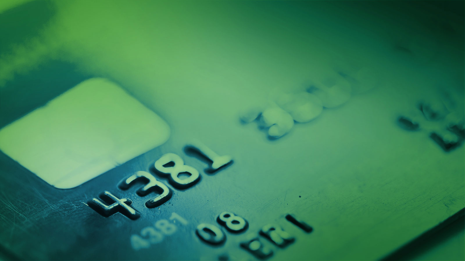 Credit card shown with PAN and other PCI