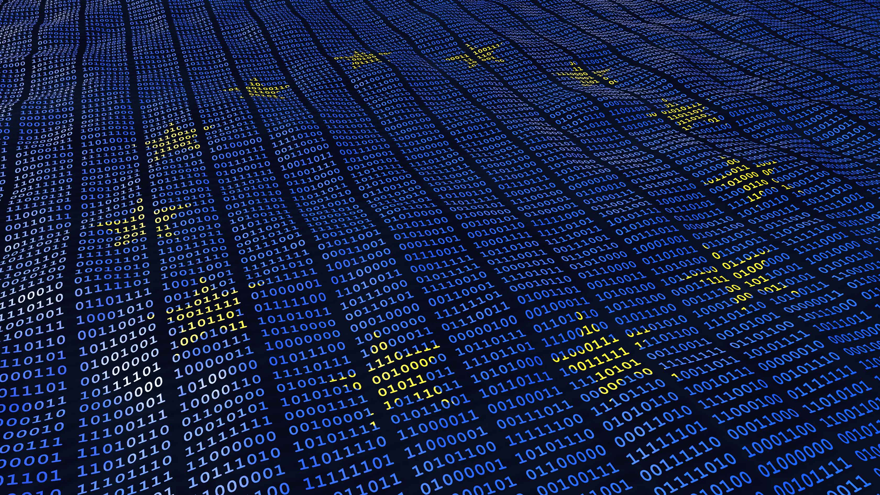 EU flag over binary code for GDPR CRM compliance