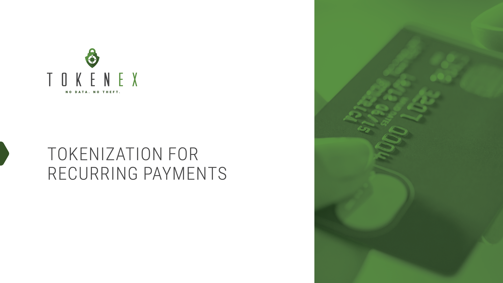 Tokenization for Recurring Payments